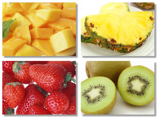 酵素の多い食品はパパイヤ、パイナップル、イチゴ、キウイ