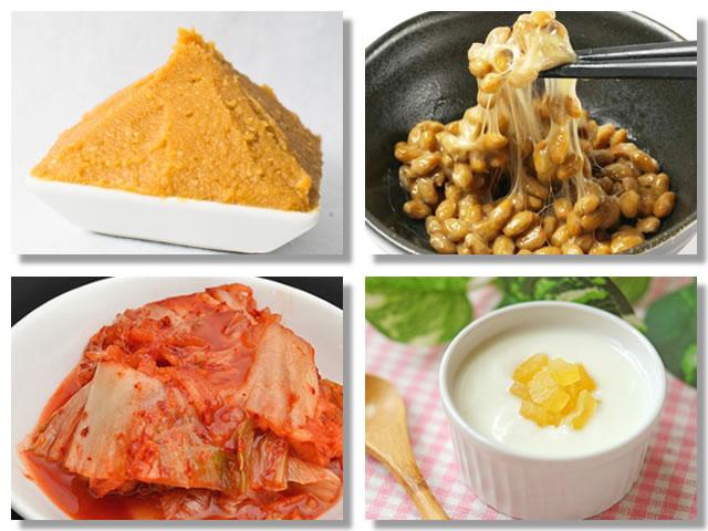 酵素の多い発酵食品は味噌、納豆、キムチ、ヨーグルトなど