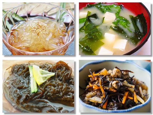 水溶性食物繊維の多い食べ物:海藻
