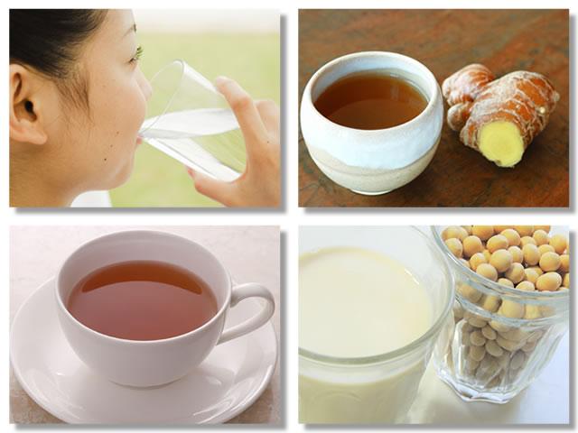 副交感神経を優位にする飲み物としてお水や生姜湯や紅茶や豆乳