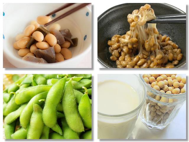 レシチンの多い食品は大豆、納豆、枝豆、豆乳