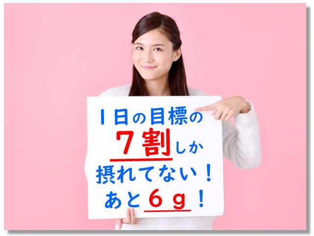 食物繊維が不足している日本人