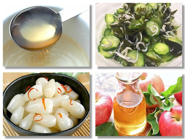 酢の物やお酢のドリンクで食欲増進