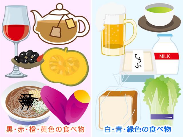 体を温める暖色系の食べ物