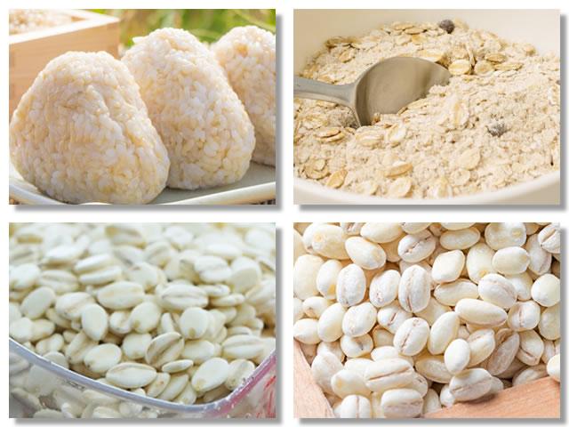 不溶性食物繊維の多い米・麦
