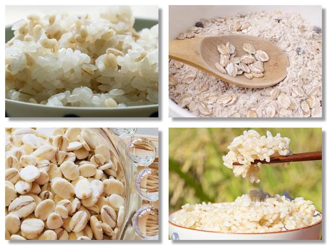 水溶性食物繊維の多い米・麦