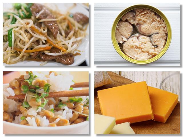 ビタミンB2の多い食べ物
